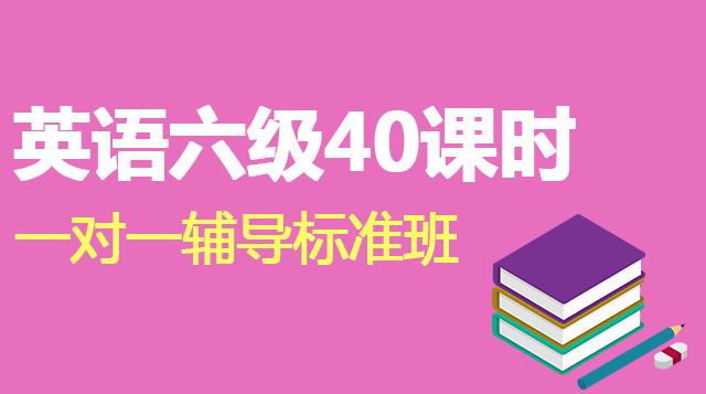 英语六级40课时一对一辅导标准班
