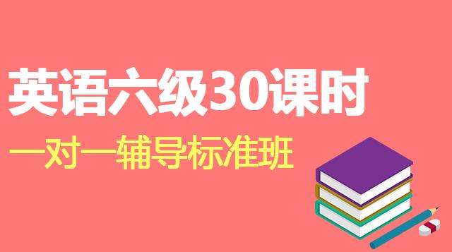 英语六级30课时一对一辅导标准班