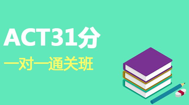 ACT考试直达31分一对一辅导通关班