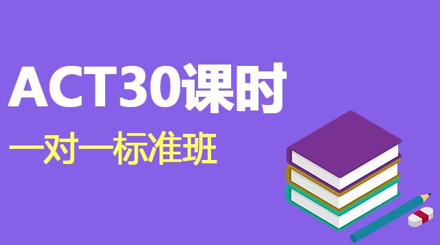ACT考试30课时一对一辅导标准班